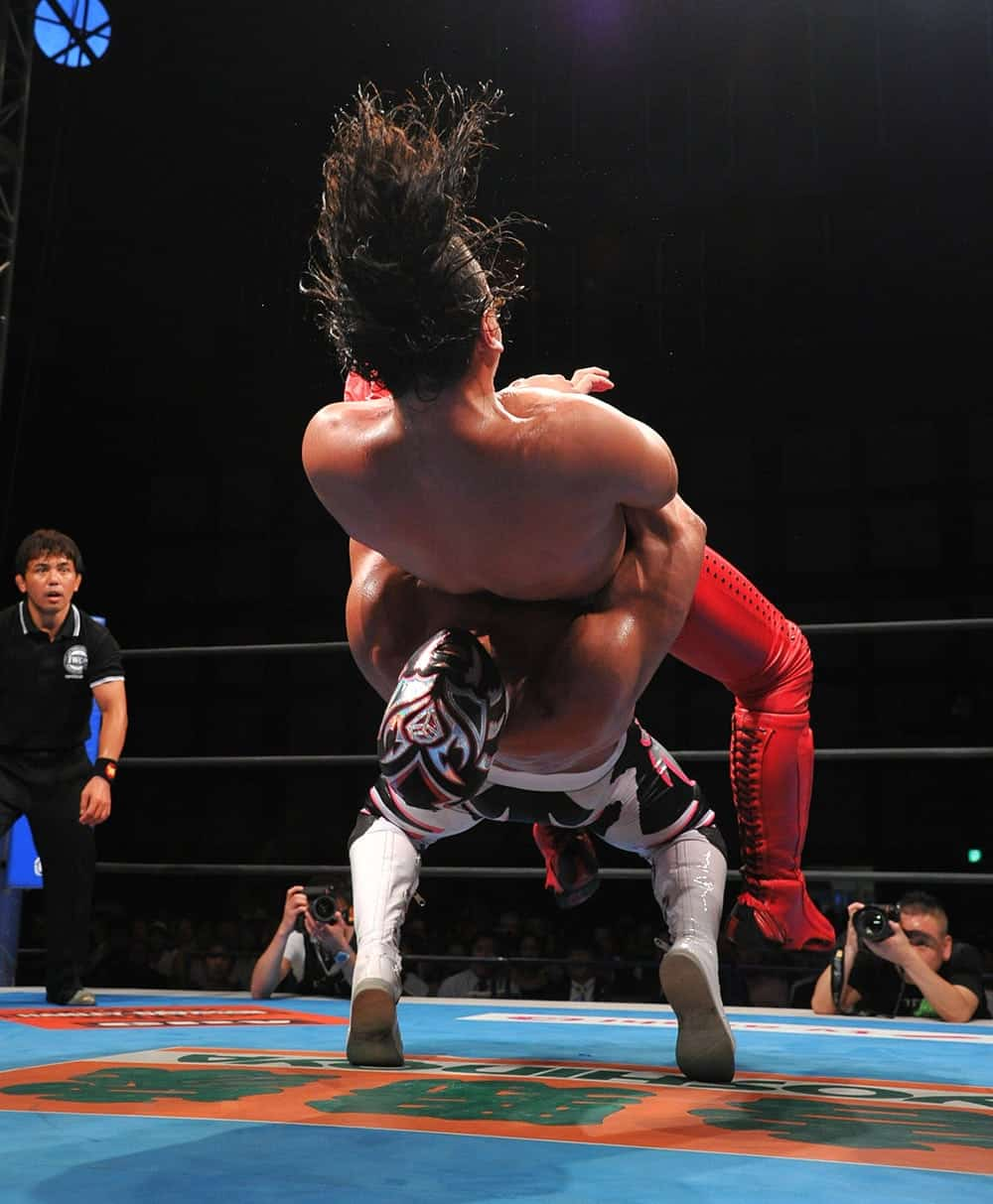 Sombra vs. Shinsuke Nakamura / Foto: Noboru Okawa.