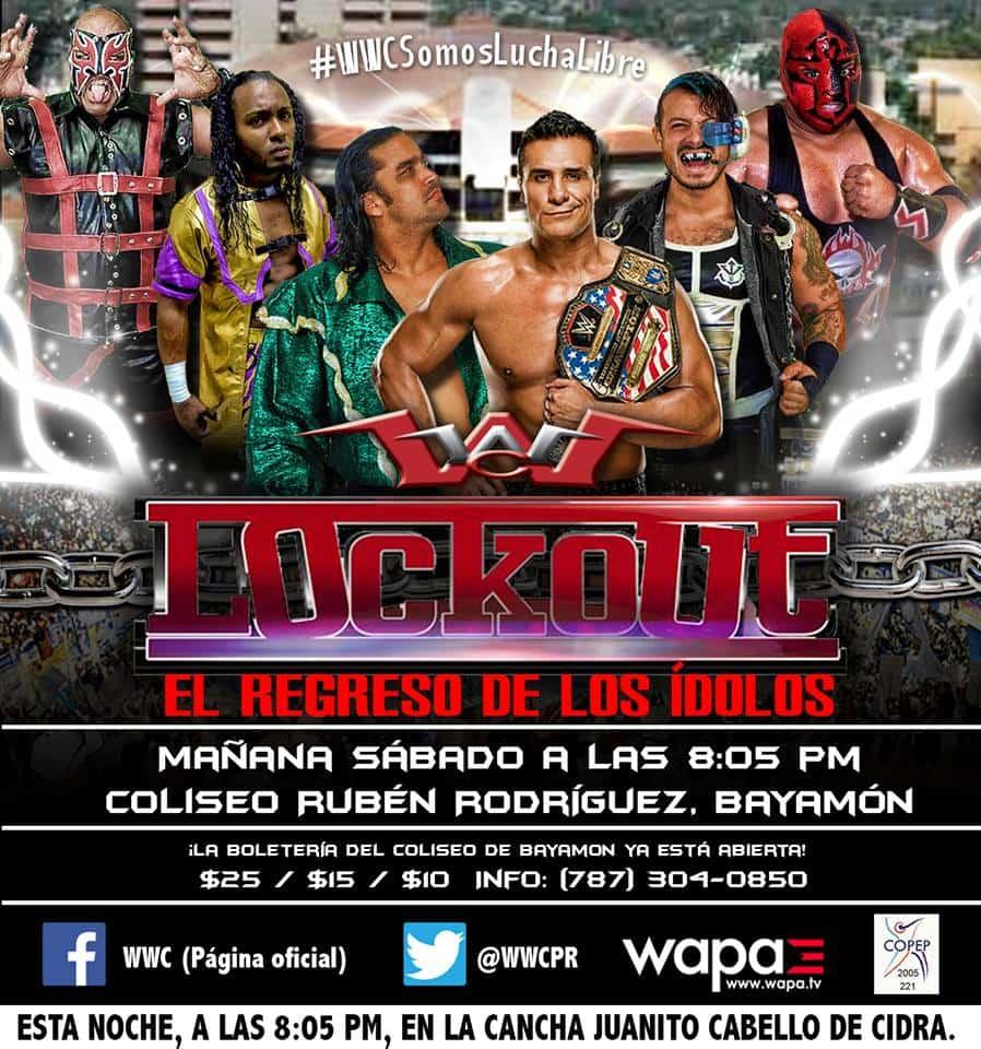 WWC: Cartel final para LOCKOUT 2015 —México vs. Puerto Rico: Alberto del Río frente a Ray González 22