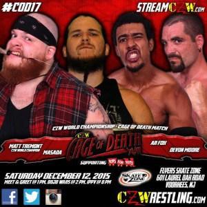 Resultados de CZW Cage of Death XVII (12 de diciembre de 2015) - Tremont defiende el Campeonato de Peso Completo en la celda de la muerte el día en que Sami Callihan vuelve a casa 4