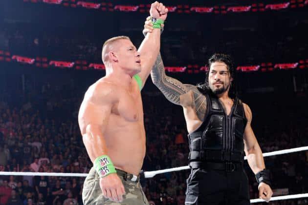 John Cena y Roman Reigns (07/07/2014 - Bell Centre en Montreal, Quebec, Canadá) / WWE.com John Cena vs Roman Reigns