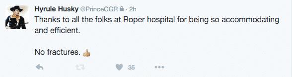 Cody Rhodes / Stardust reporta su estado en twitter