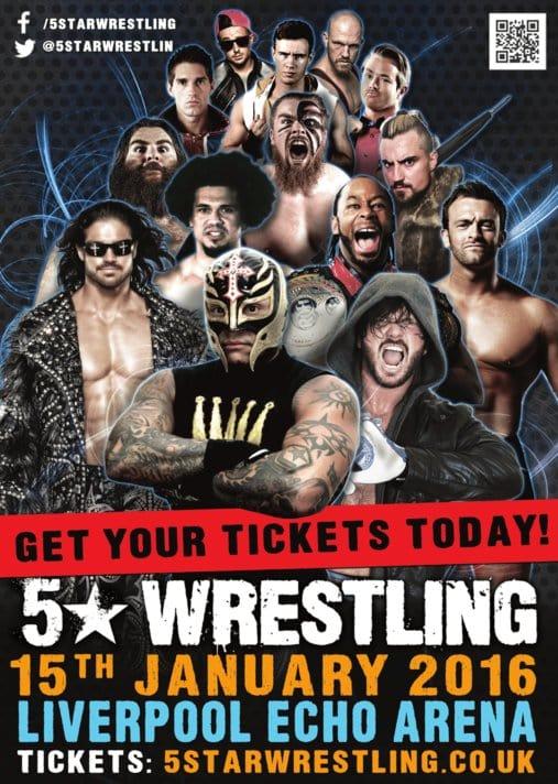 Resultados de la gira de 5 Stars Wrestling (13, 14 y 15 de enero de 2016) - AJ Styles se enfrentó a Rey Mysterio en un combate de ensueño 1