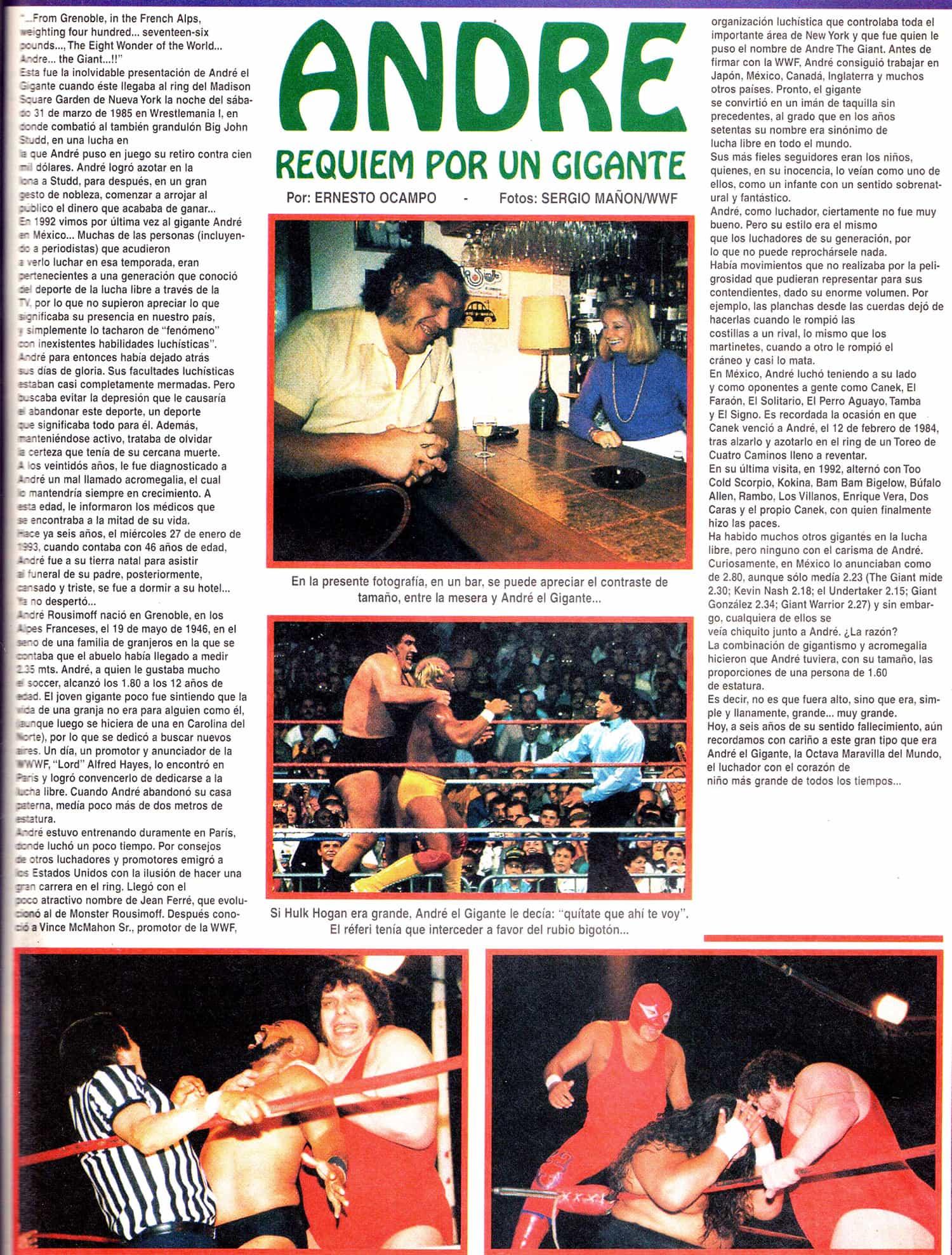 Andre el Gigante Super Luchas 410
