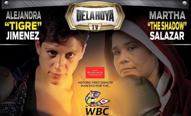 Salazar contra Jiménez, la primera pelea femenil de peso completo en México