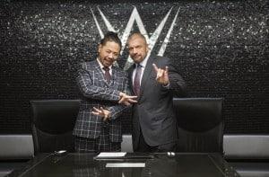 Shinshuke Nakamura es Bienvenido a WWE por Triple H (02/02/2016) / Twitter.com/TripleH