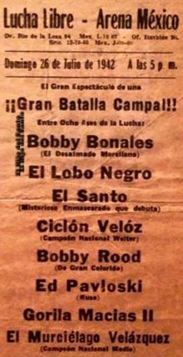 cartel debut Santo