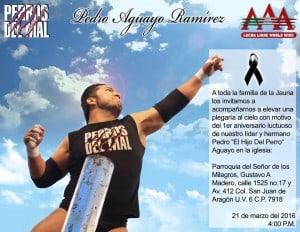 AAA y Perros del Mal invitan a la ceremonia religiosa con motivo del primer aniversario Luctuoso de Hijo del Perro Aguayo 6