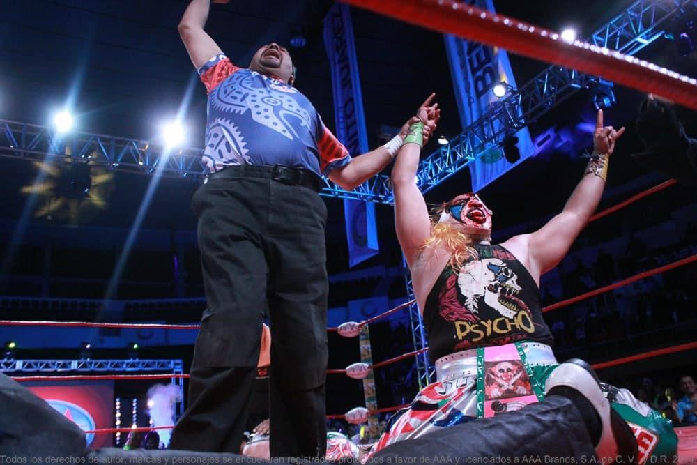 AAA: Resultados en Gimnasio Juan de la Barrera - Psycho Clown sigue como monarca tras sufrida batalla, Texano Jr. humillado 1