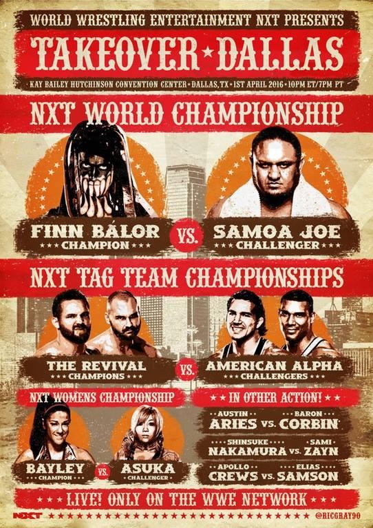 Cartel NXT TakeOver: Dallas / @RicGray90
