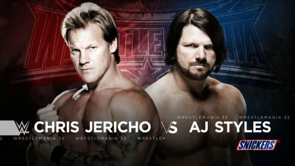 WrestleMania 32 - AJ Styles vs Chris Jericho