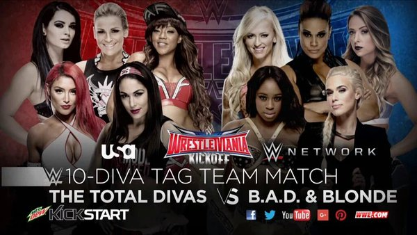 WrestleMania 32 - Total Divas vs BAD and Blonde