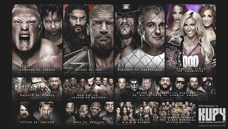 Cartel WrestleMania 32 / kupywrestlingwallpapers.info