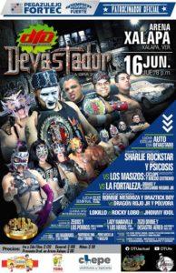 """Cartel final """"Devastador en la Arena Xalapa."""