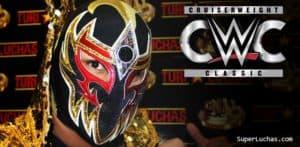 Máscara Dorada (Gran Metalik) firma con WWE 4