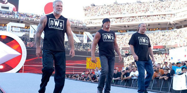 La última aparición de nWo, en Wrestlemania 31 para apoyar a Sting