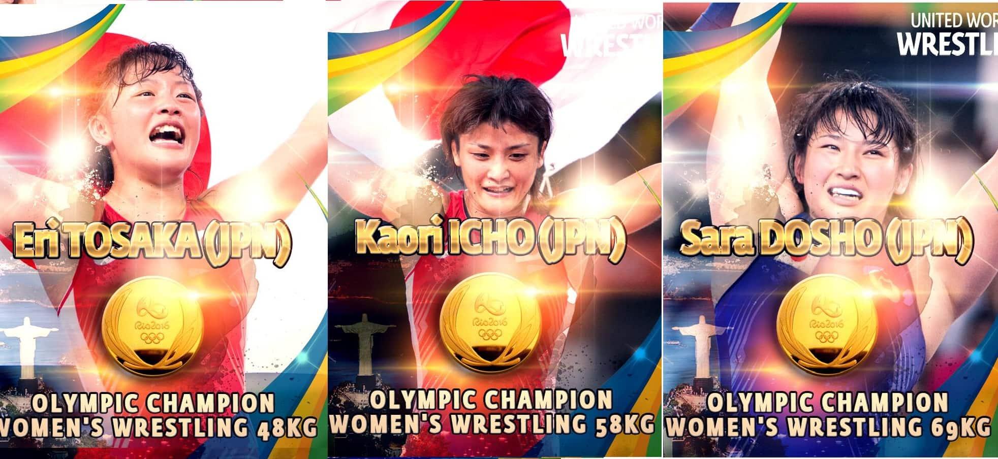 Inicia la Lucha Femenil en Rio 2016, apabullante dominio de Japón 1