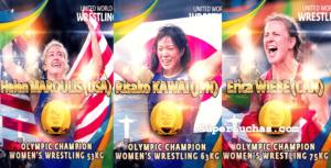 La lucha femenil cerró en Rio 2016 con Oro para Estados Unidos, Japón y Canadá 3