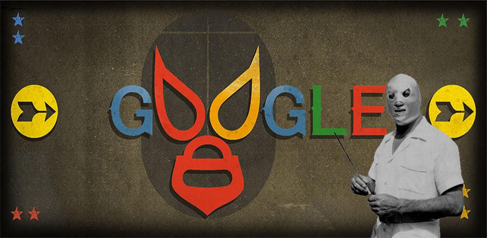 Google homenajea a El Santo (Rodolfo Guzmán Huerta) con un Doodle en su natalicio número 99 (23/09/2016) / Google.com