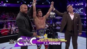 TJ Perkins gana el WWE Cruiserweight Classic y es el nuevo WWE Cruiserweight Champion de WWE Monday Night Raw (14/09/2016) / Twitter.com/WWE