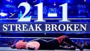 21-1, Brock Lesnar rompe La Racha de The Undertaker en WWE WrestleMania XXX (06/04/2014) / WWE©