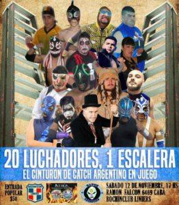 Catch Argentino - Lucha Libre: 12 de noviembre en el Bochin Club Liniers de Buenos Aires
