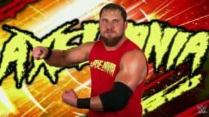 Curtis Axel con la AxelMania en WWE