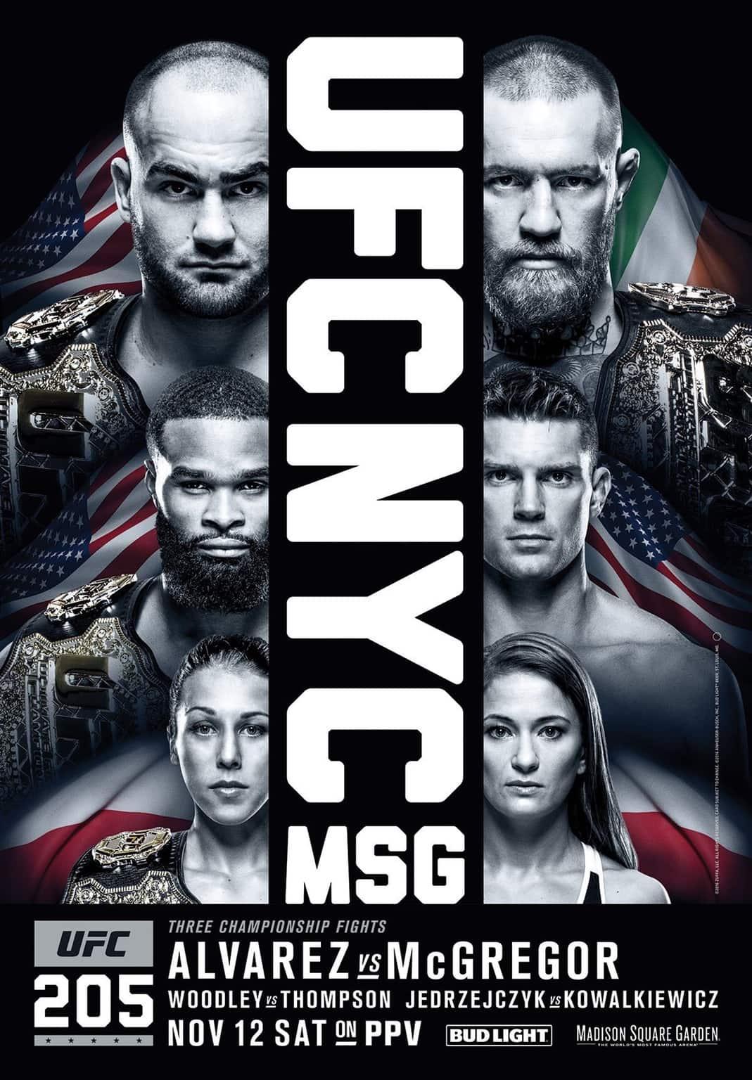 Póster Oficial de UFC 205: Alvarez vs. McGregor