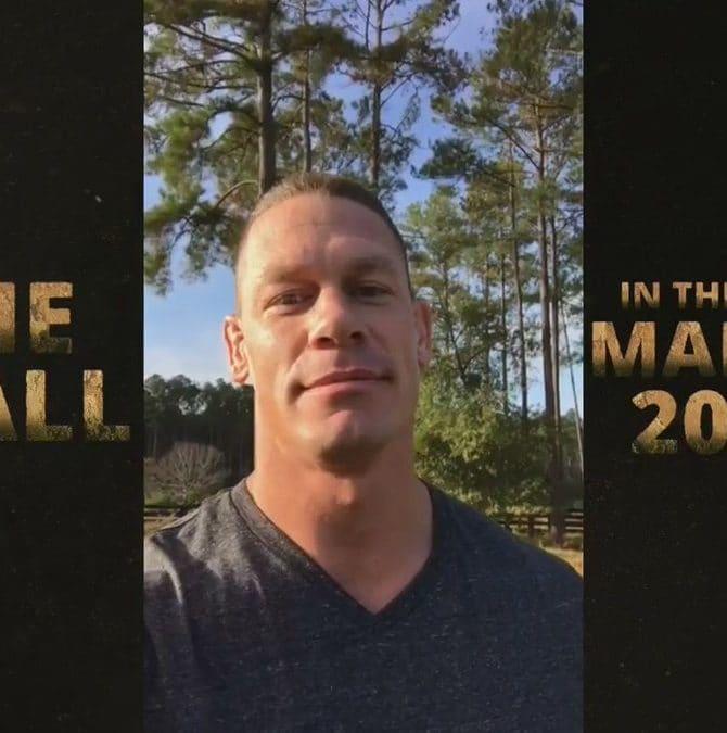 """John Cena en la película """"The Wall"""" (Marzo, 2017) / Twitter.com/JohnCena"""