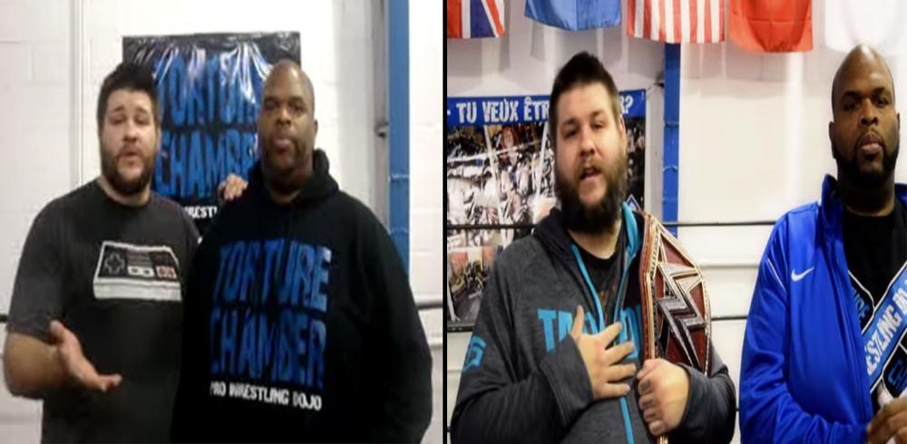 Kevin Owens en el Torture Chamber Pro Wrestling con Dru Onyx en Montréal-Nord, Canadá (febrero de 2014 y diciembre de 2016)