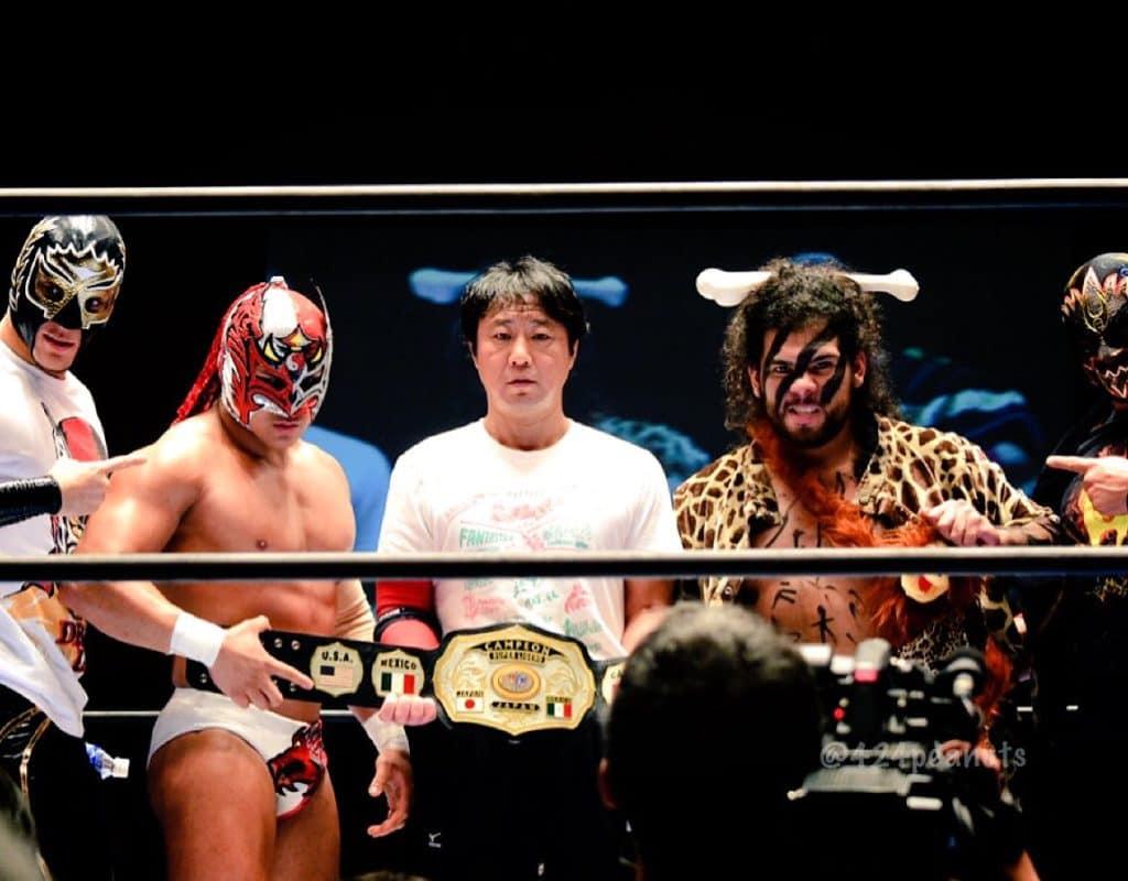 """NJPW/CMLL: Resultados """"Fantasticamanía 2017"""" - 20/01/2017 - Dragon Lee defiende su cetro pero sufre el artero ataque de Hiromu Takahashi 6"""