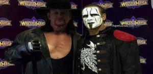 Montaje de The Undertaker y Sting juntos en la Conferencia de Prensa de WWE WrestleMania 34 / SÚPER LUCHAS - SuperLuchas.com