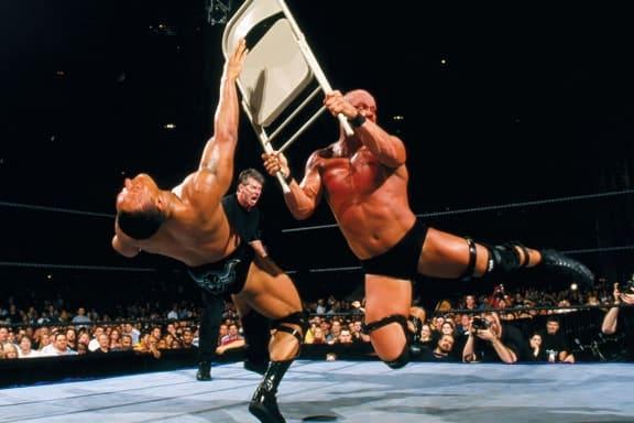 The Rock vs. Stone Cold Steve Austin