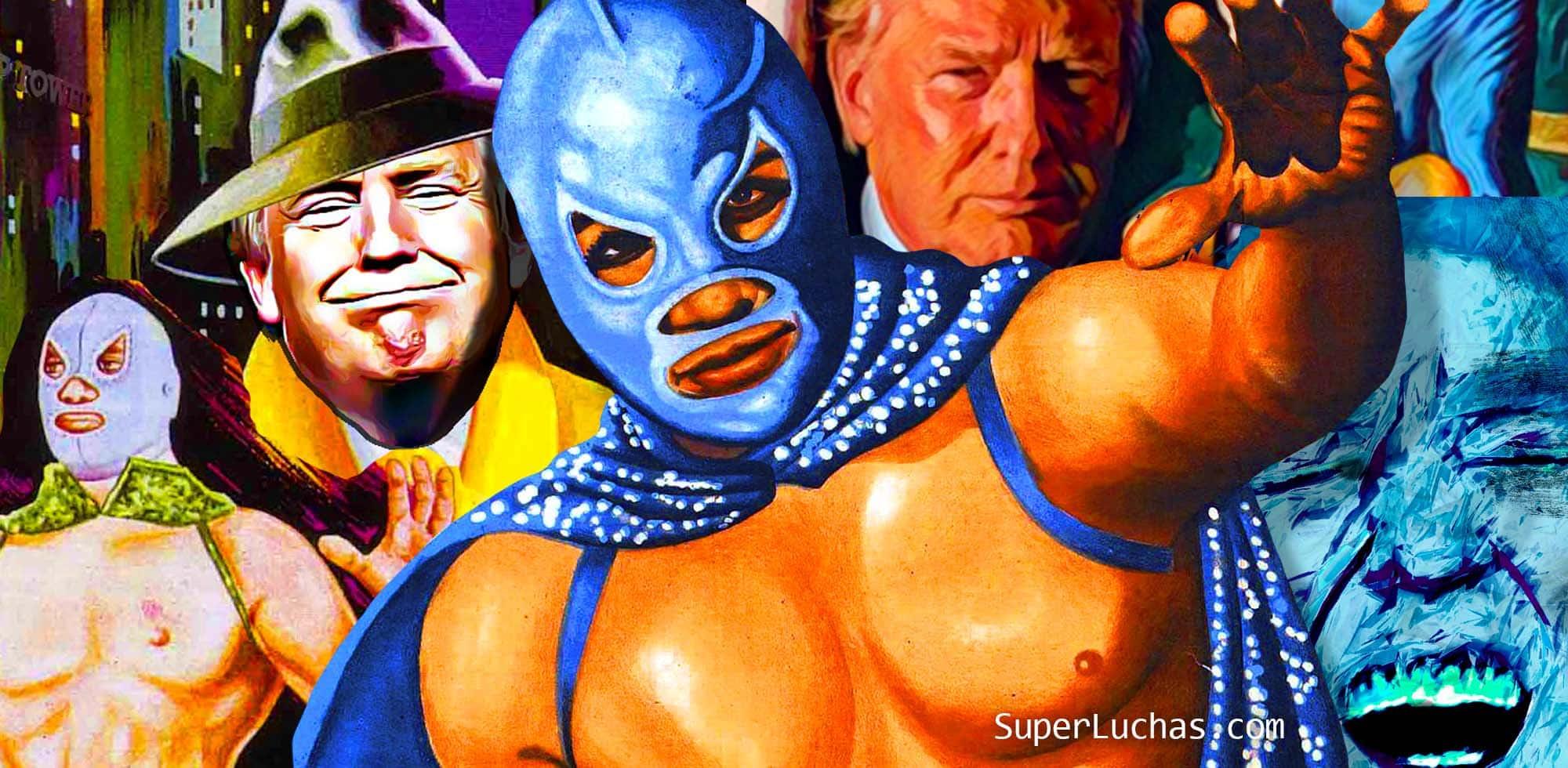 Lucha libre vs. racismo: Cinco carteles de películas de Santo contra Donald Trump 20