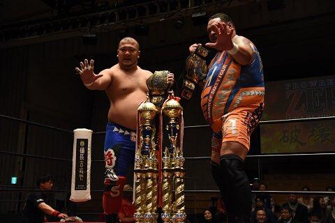 """Zero1: Resultados """"Dream Series - Hakai No Jin"""" - 03/02/2017 - Akebono y Shogun Okamoto son nuevos campeones; Kohei Sato retiene su cetro 25"""