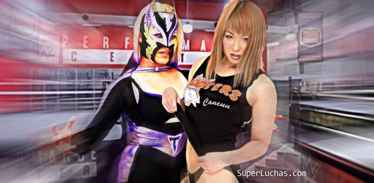 Storm Girl and Io Shirai make their tryout with WWE 1