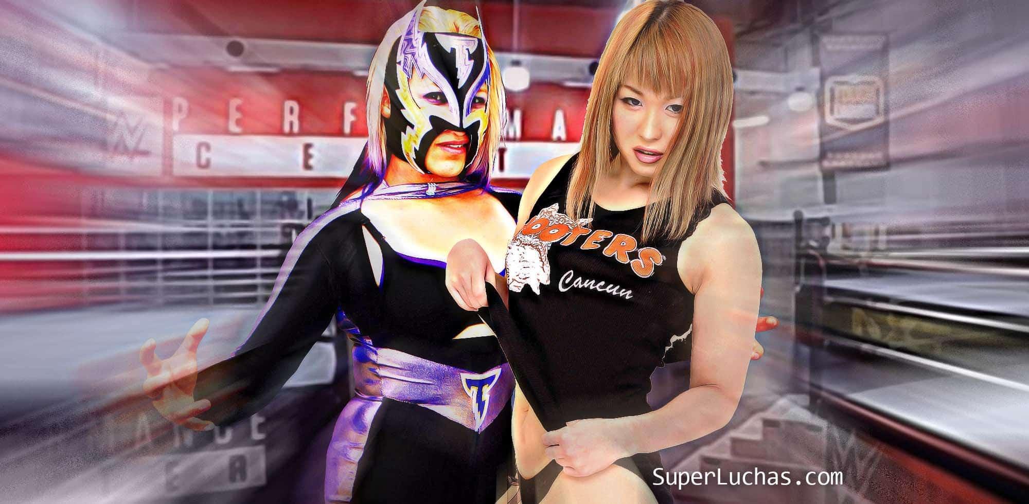Chica Tormenta e Io Shirai hacen su tryout con WWE 1