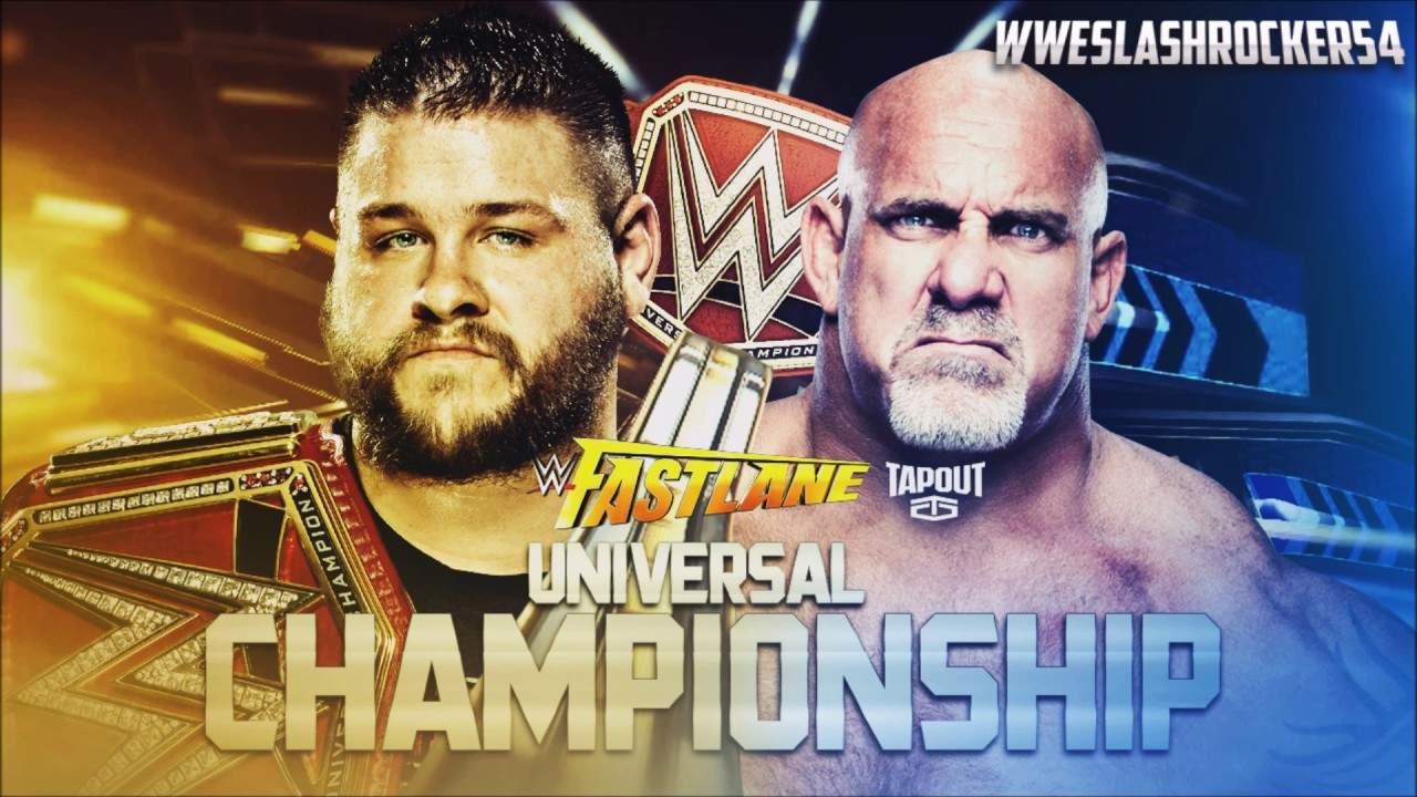 Kevin Owens vs. Goldberg por el WWE Universal Championship en el PPV WWE Fastlane 2017