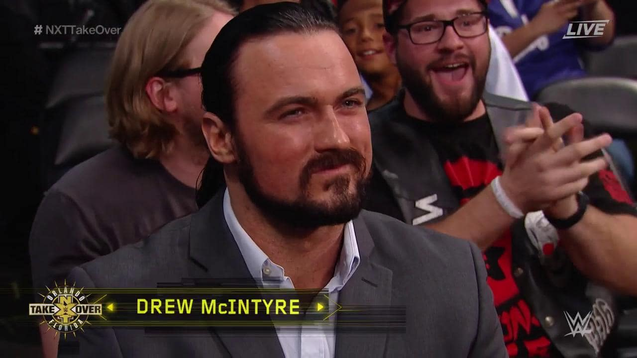 Drew McIntyre (Drew Galloway) en la audiencia de WWE NXT TakeOver: Orlando (01/04/2017) / Twitter.com/WWENXT