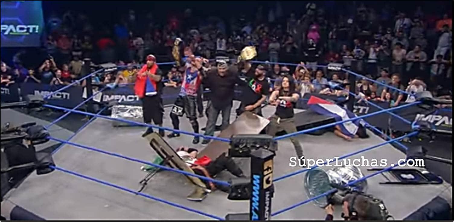 Resultados Impact Wrestling (27-abril-2017) LAX retiene el campeonato de parejas 3