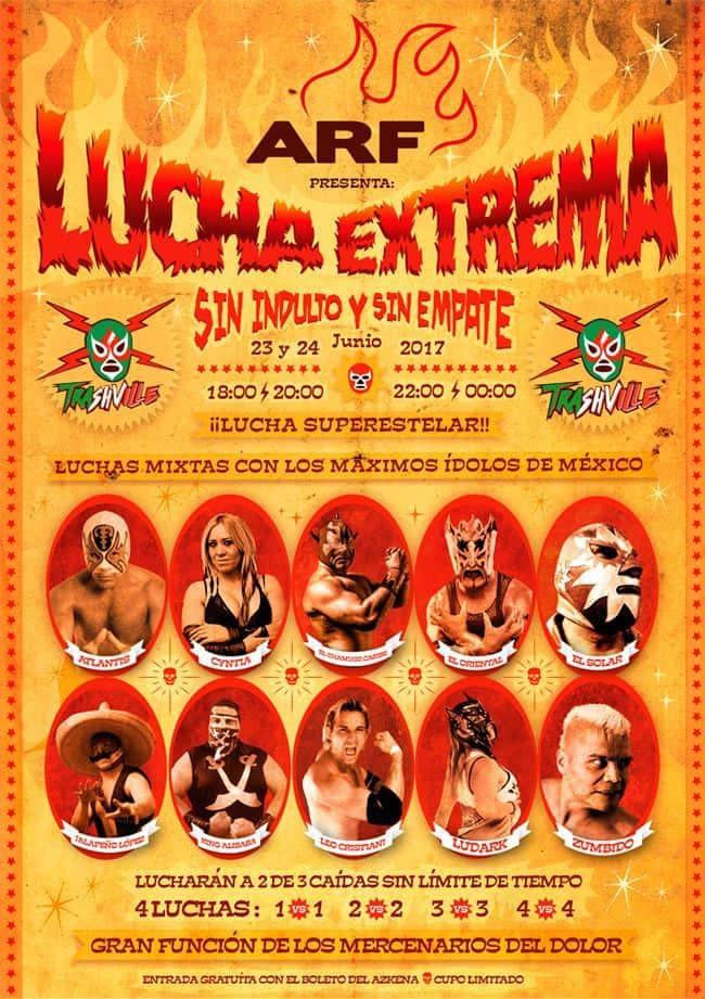 Lucha Libre Mexicana en España-en el AZKENA ROCK FESTIVAL 1