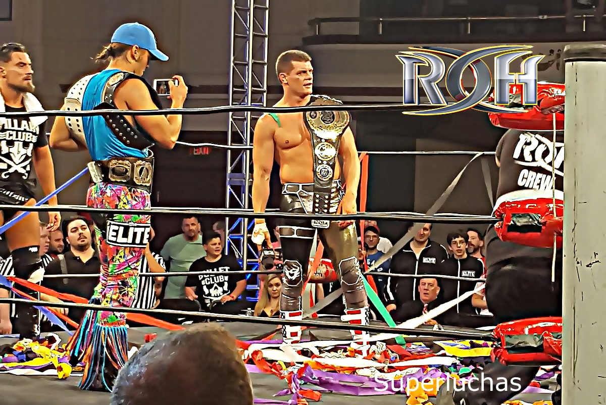 """Resultados de ROH Best In The World 2017 — ¡Y Cody se convierte en Campeón Mundial! — Último Guerrero y El Terrible cometen """"regicidio"""" 1"""