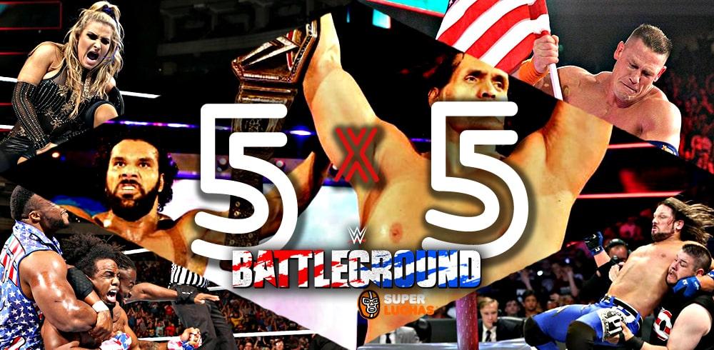 5x5 WWE Battleground 2017