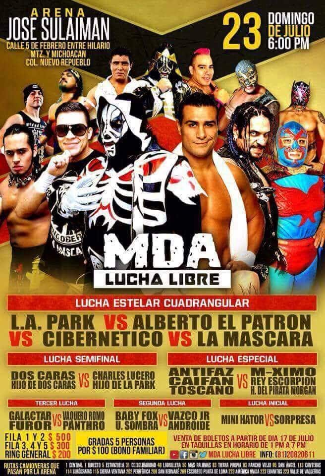 Alberto El Patrón vs. LA Park, en MDA Lucha Libre 1