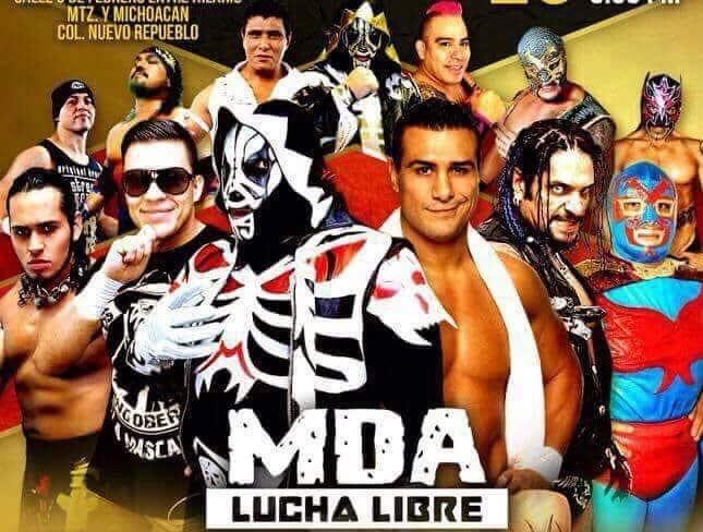 Alberto El Patrón vs. LA Park, en MDA Lucha Libre 36