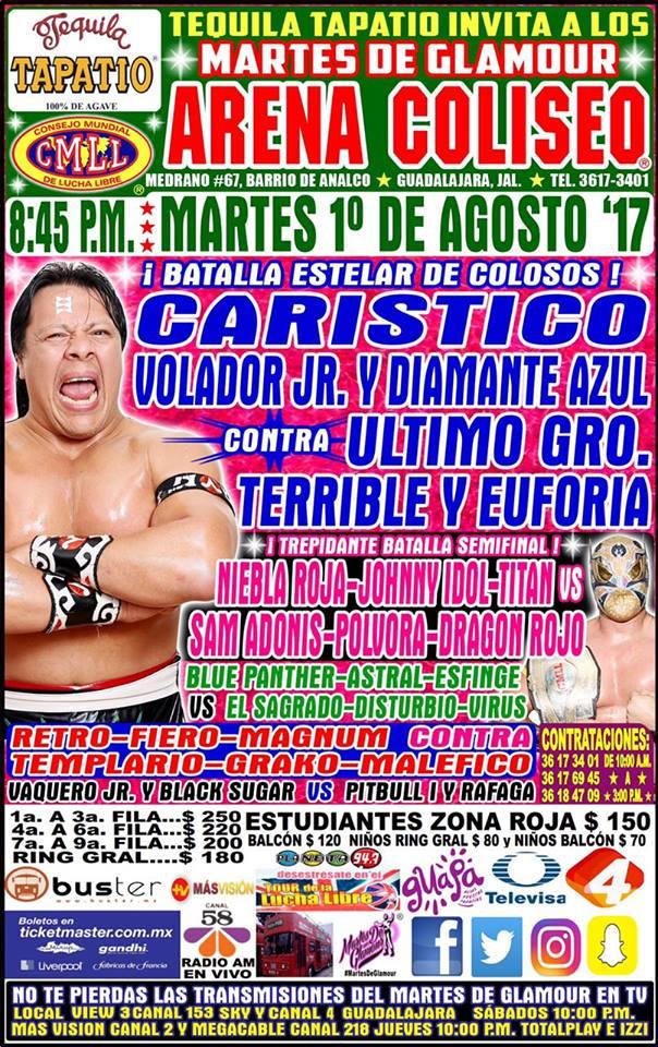 CMLL: Una mirada semanal al CMLL (del 20 al 26 de julio de 2017) La Nueva Sangre Dinamita y su semana de ensueño 27