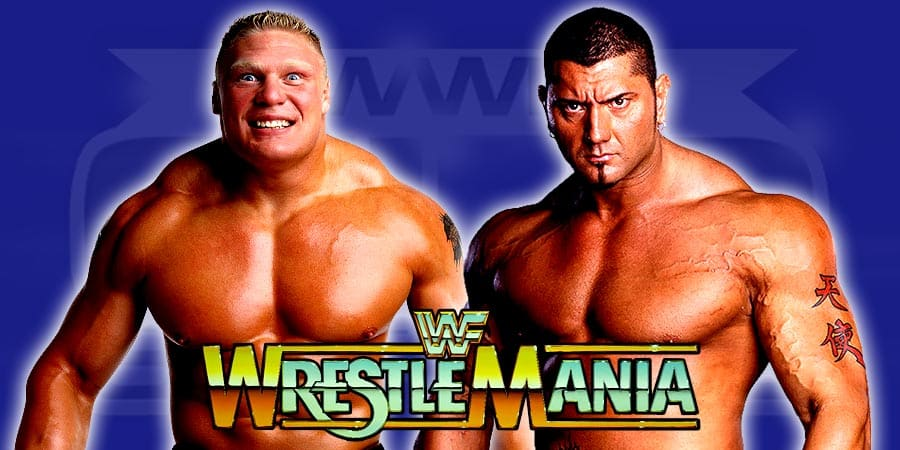 De la vez que Brock Lesnar casi enfrenta a Batista en WrestleMania 1
