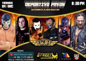 """Lucha Libre Elite: Cartel completo para """"Street Lucha Libre"""" en el Deportivo Pavón 9"""