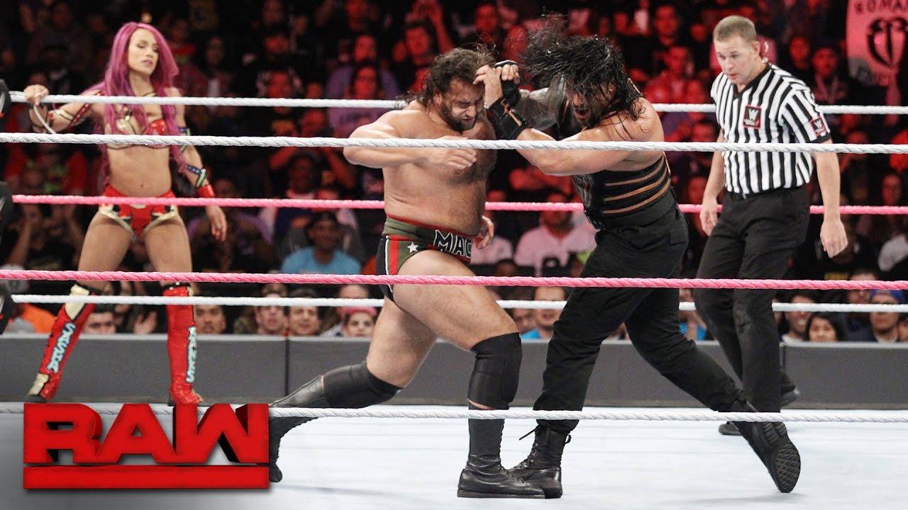 Rusev faced Roman Reigns