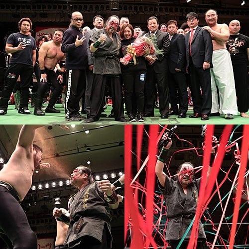 "Pro Wrestling NOAH: Resultados ""Kabuki the Final"" El adiós de Great Kabuki; Kenou destrona a Edwards 13"