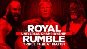 Brock Lesnar defiende el Campeonato Universal WWE ante Braun Strowman y Kane en el PPV WWE Royal Rumble 2018 (28/01/2018) / Twitter.com/WWE